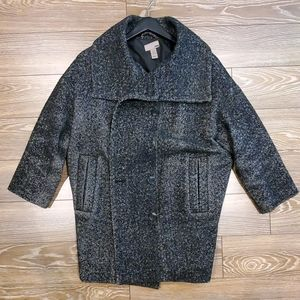 H&M herringbone pattern cocoon coat